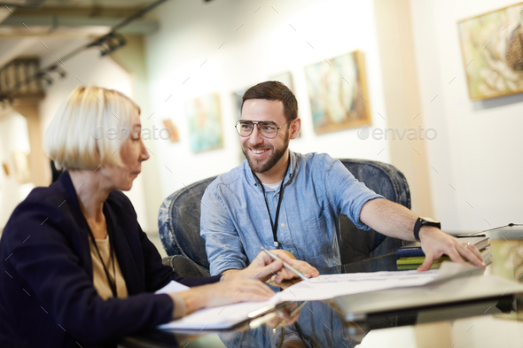 People Planning Exhibition - Stock Photo - Images