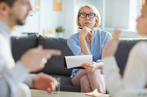 Serious counselor - Stock Photo - Images