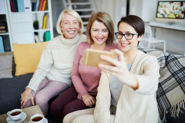 Women Taking Selfie - Stock Photo - Images