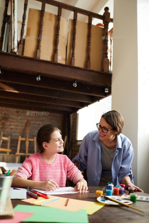 Teenage Girl with Mom - Stock Photo - Images