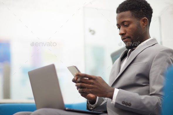 Young African Businessman - Stock Photo - Images