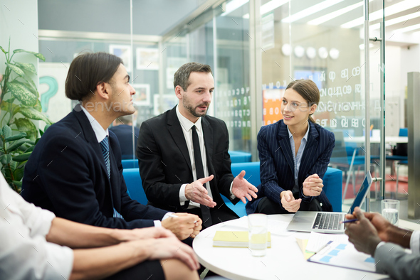 Businesspeople Meeting in Office - Stock Photo - Images