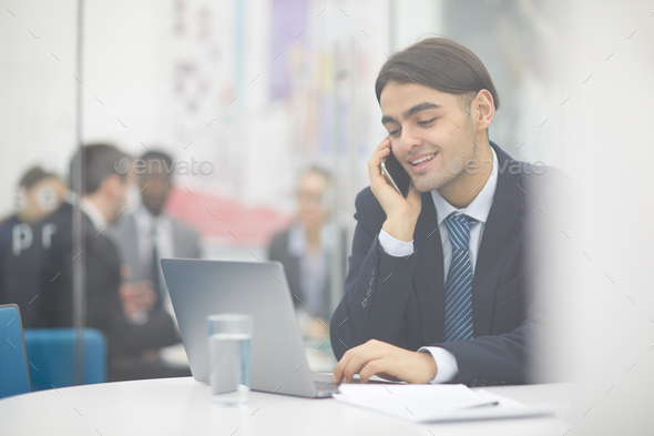Middle-Eastern Businessman Working - Stock Photo - Images