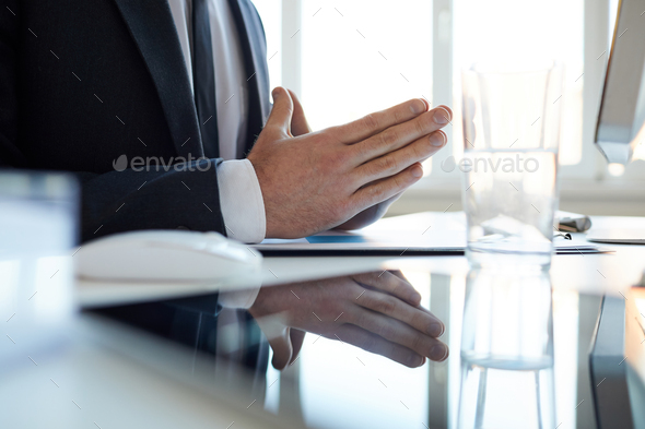 Hands of businessman - Stock Photo - Images