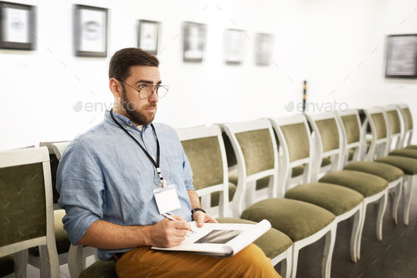 Student in Art Gallery - Stock Photo - Images