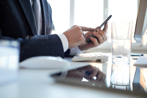 Pointing at touchscreen - Stock Photo - Images