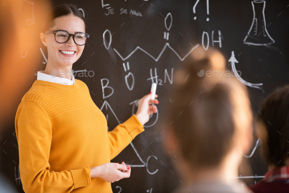 Teaching chemistry - Stock Photo - Images