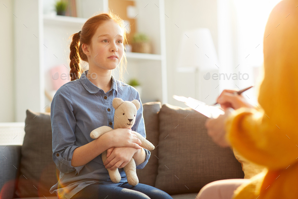 Teenager in Therapy Session - Stock Photo - Images