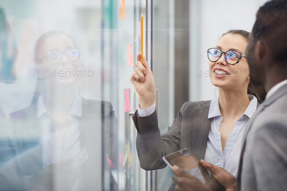 Two Colleagues Planning Work - Stock Photo - Images