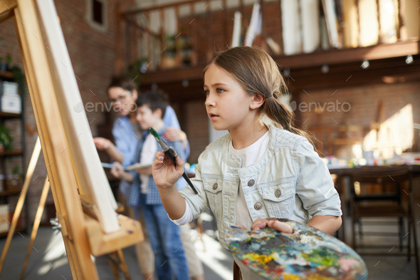 Talented Little Artist - Stock Photo - Images