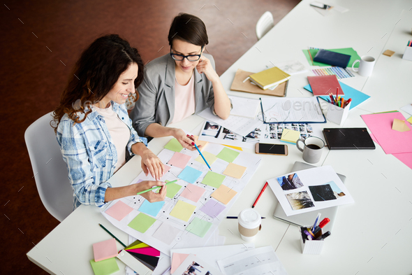 Contemporary Women Planning Work - Stock Photo - Images