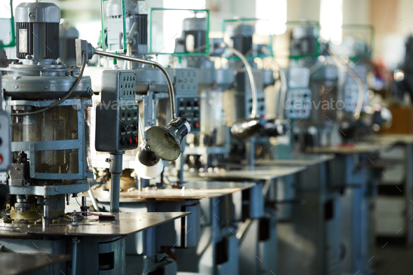 Industrial Machine Units in Row - Stock Photo - Images