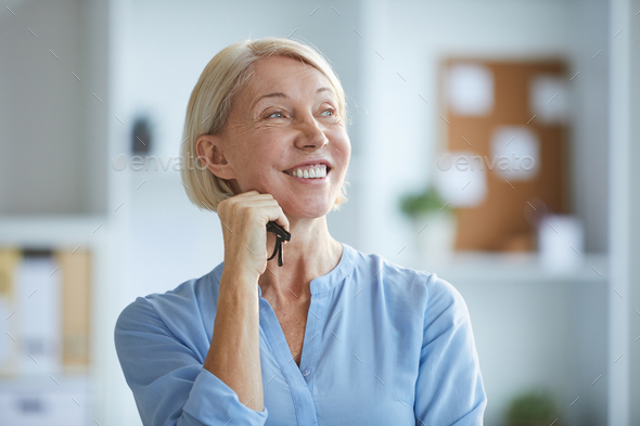 Cheerful woman - Stock Photo - Images