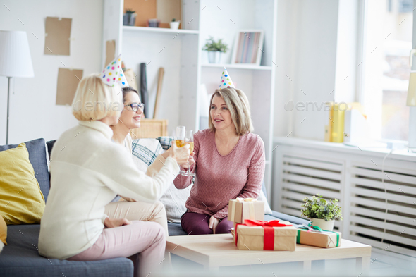Small Party in Office - Stock Photo - Images