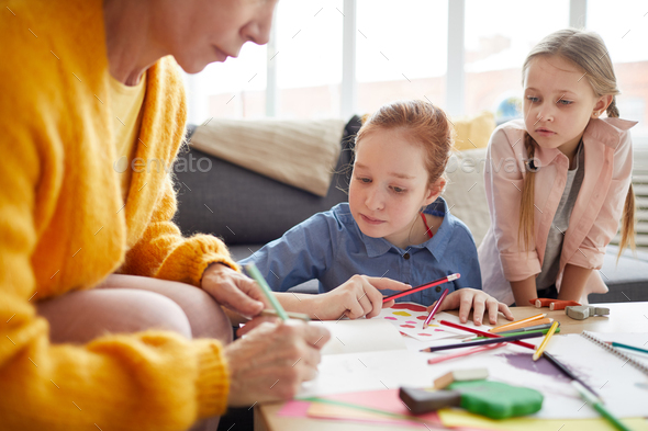 Children Making Handmade Cards - Stock Photo - Images
