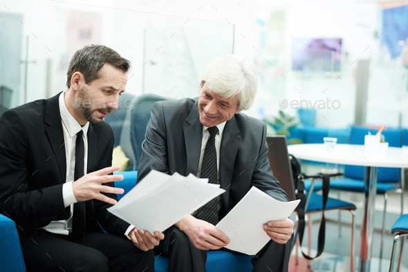 Two Mature Businessmen at Work - Stock Photo - Images