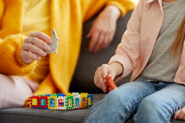 Closeup of Woman Playing with Child - Stock Photo - Images