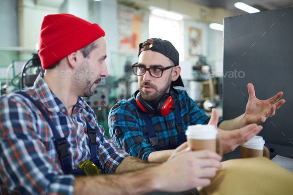 Workers on Coffee Break - Stock Photo - Images