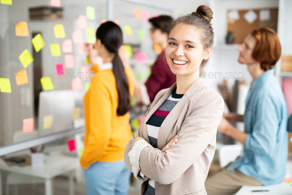 Woman in office environment - Stock Photo - Images