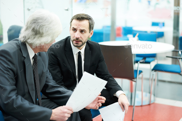 Mature Businessmen at Work - Stock Photo - Images