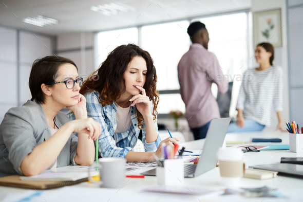 Contemporary Businesswomen at Work - Stock Photo - Images