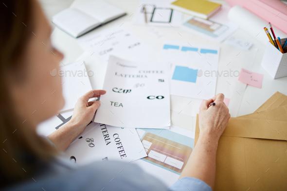 Unrecognizable Designer - Stock Photo - Images