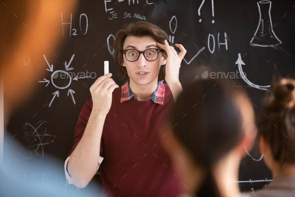 Astonished teacher - Stock Photo - Images