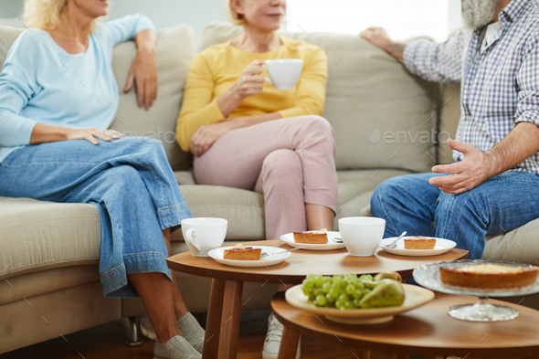Chatting during tea party - Stock Photo - Images