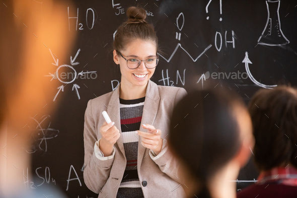Happy teacher - Stock Photo - Images