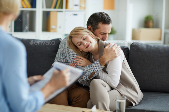 Couple in embrace - Stock Photo - Images