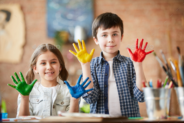 Creative Kids Posing - Stock Photo - Images