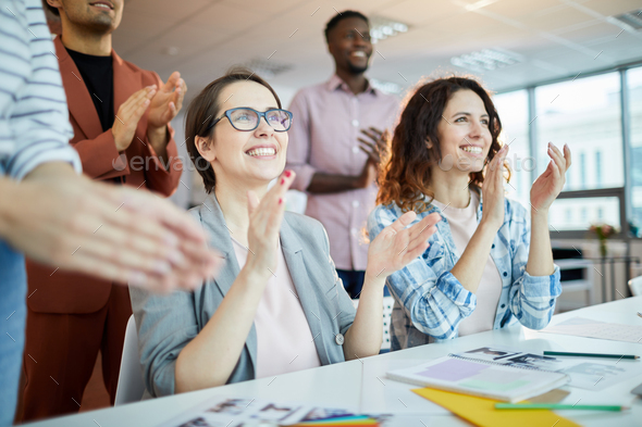 Business Audience Clapping - Stock Photo - Images