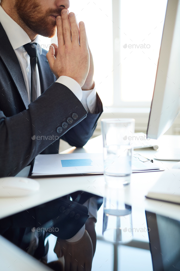 Broker concentrating - Stock Photo - Images