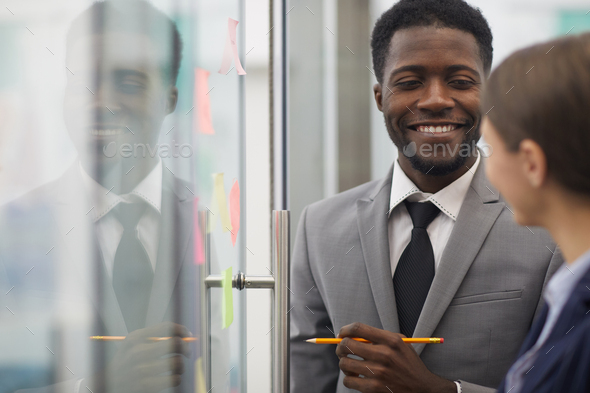 African Businessman Planning Startup - Stock Photo - Images