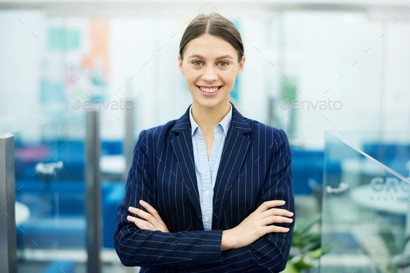 Successful Businesswoman Posing - Stock Photo - Images