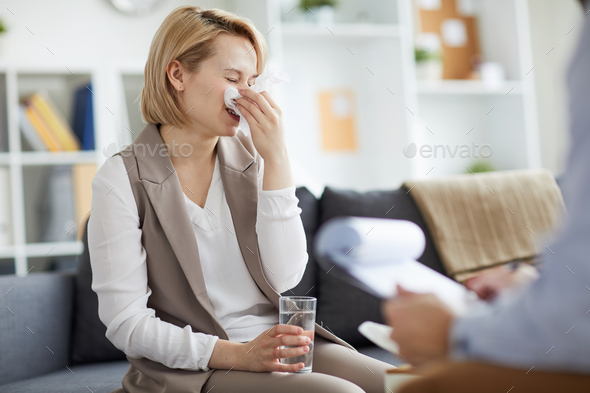 Patient of counselor - Stock Photo - Images
