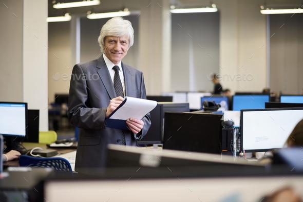 Senior Businessman Posing - Stock Photo - Images