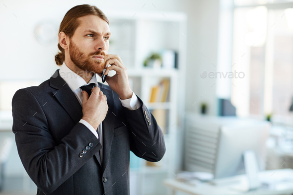 Broker calling client - Stock Photo - Images