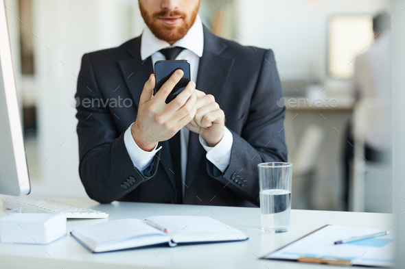 Selfie at work - Stock Photo - Images