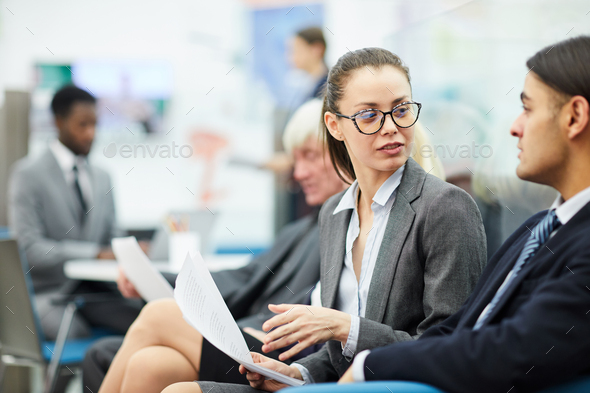 Business People Talking in Office - Stock Photo - Images