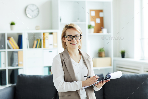 Blonde counselor - Stock Photo - Images