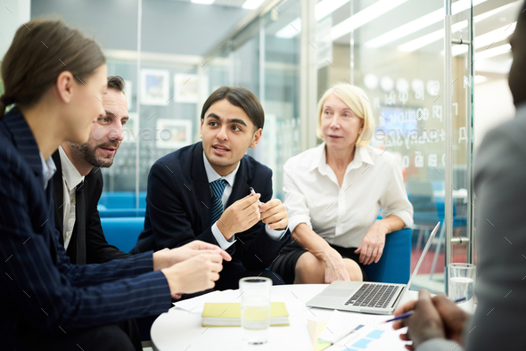Brainstorming in Office - Stock Photo - Images