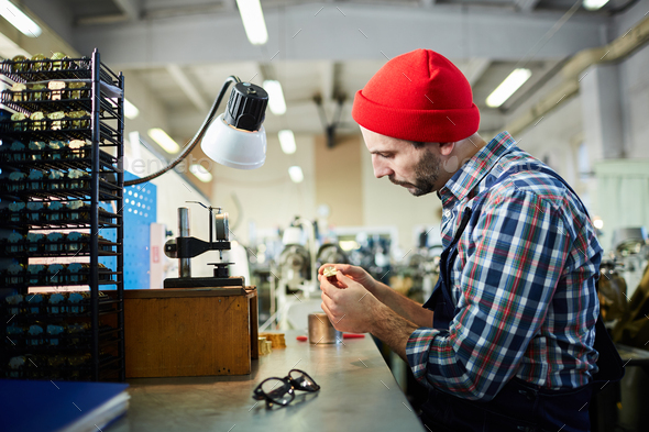 Watchmaker at Factory - Stock Photo - Images
