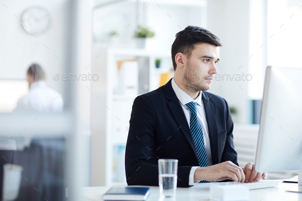 Businessman in office - Stock Photo - Images