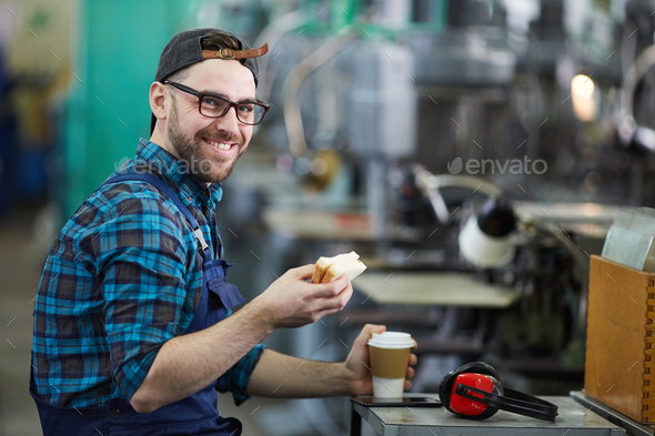Lunch Break at Work - Stock Photo - Images