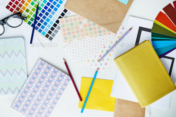 Pastel Office Supplies - Stock Photo - Images