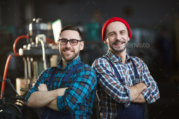 Two Modern Workers - Stock Photo - Images