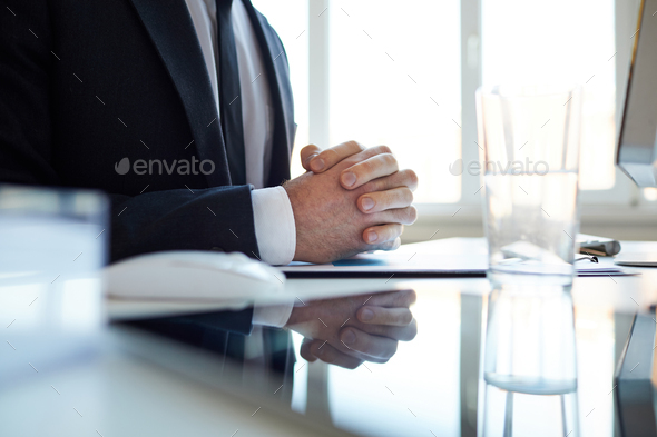 Concentrating on working point - Stock Photo - Images