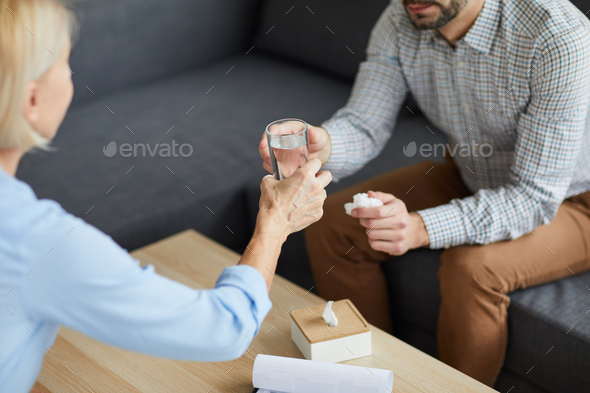 Glass of water for patient - Stock Photo - Images