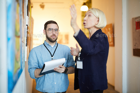 Art Gallery Workers - Stock Photo - Images